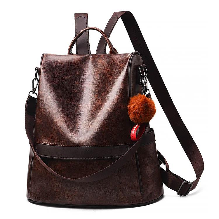 sac a dos inviolable cuir katia pour femme, mon sac antivol