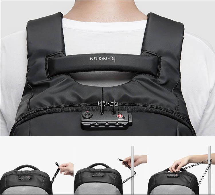 sac à dos antivol pour ordinateur avec cadenas