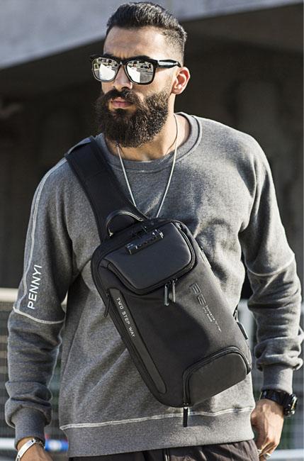 Sac Bandoulière Antivol Homme OLSBERG, mon sac antivol