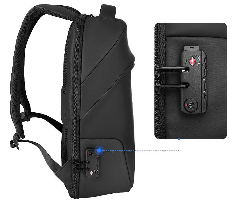 sac à dos pour ordinateur avec verrou TSA