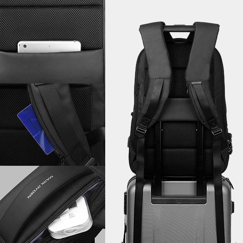 sac à dos pour ordinateur avec poche cachée