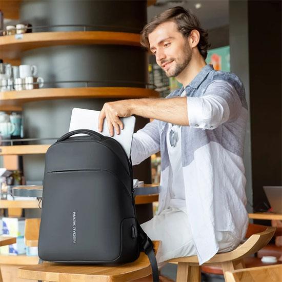 sac à dos antivol pour ordinateur avec poche cachée