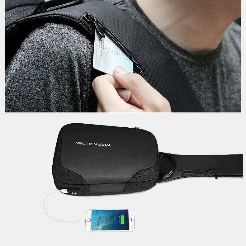 sac à dos bandouliere USB