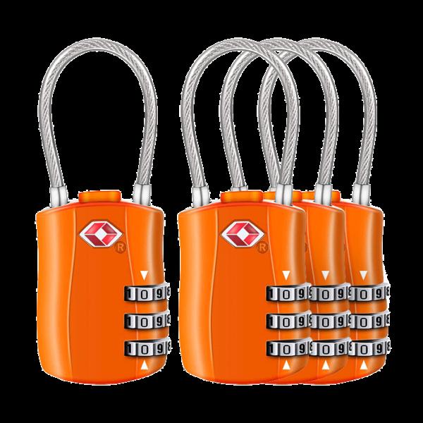 Cadenas de Voyage à Combinaison TSA - orange