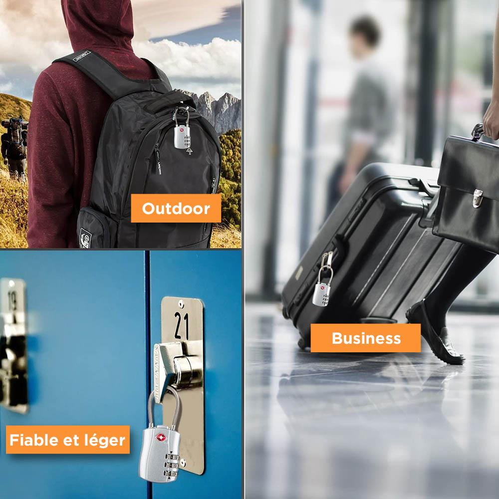 cadenas de voyage, serrure de bagage