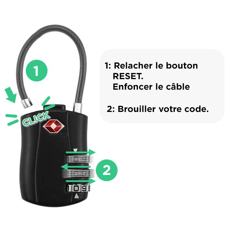 comment utiliser un cadenas de voyage pour bagages