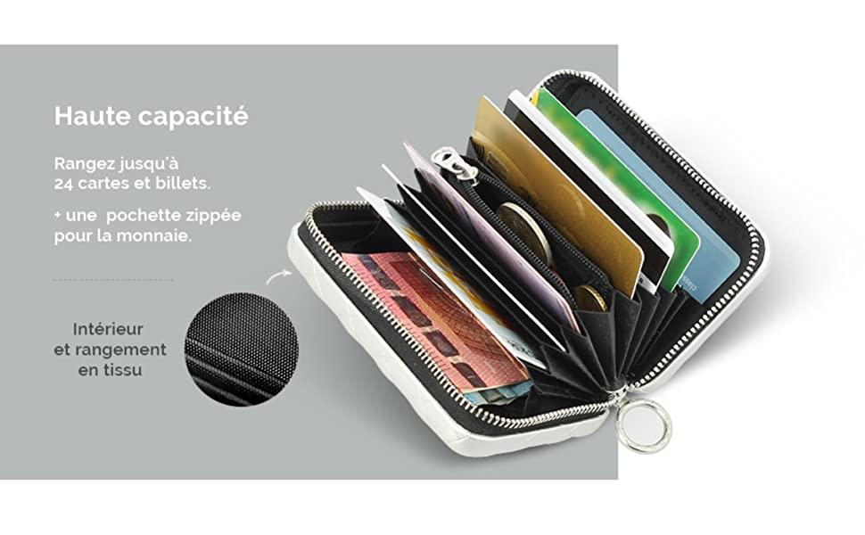 portefeuille RFID femme
