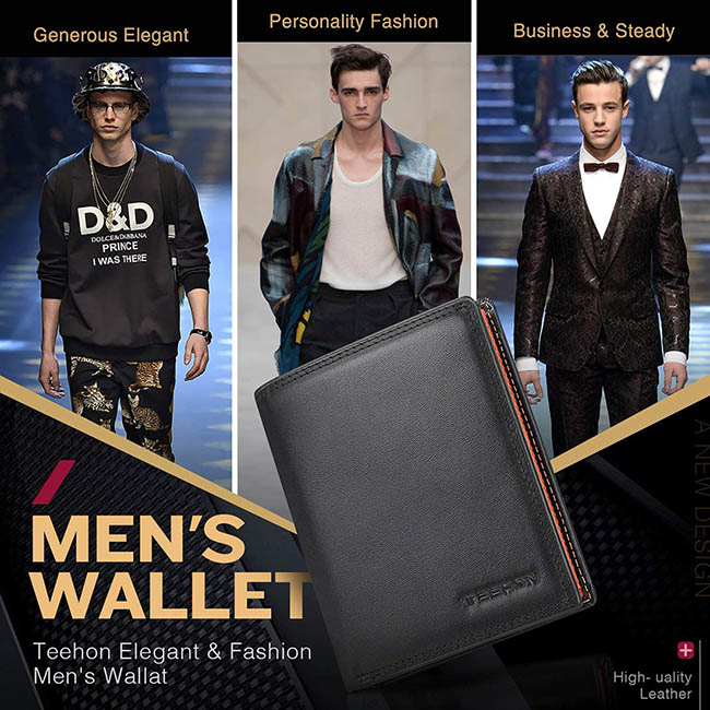 portefeuille homme cuir RFID