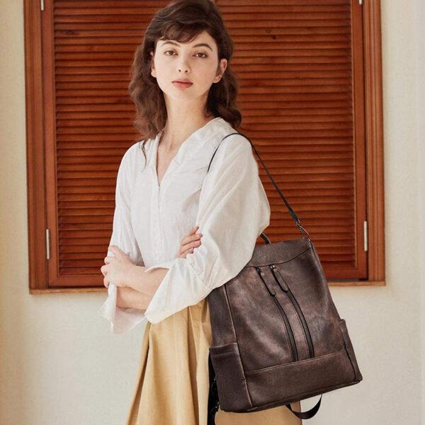 sac antivol femme vintage cuir