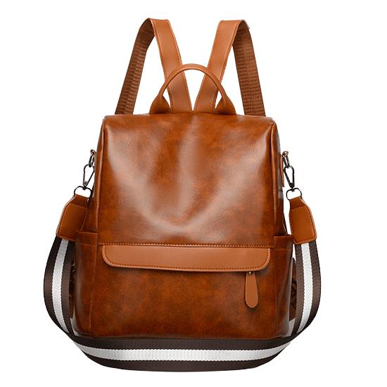 sac à dos antivol femme cuir