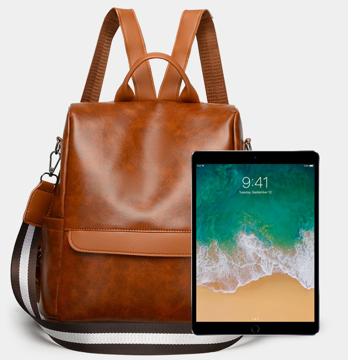 sac à dos anti pickpockets femme en cuir