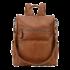sac à dos antivol cuir marron femme